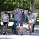 Ana De Armas and Ben Affleck – Seen while walking the dogs in Brentwood
