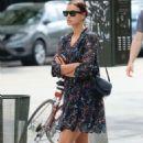 Irina Shayk in Mini Dress Shopping in New York