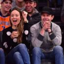 Olivia Wilde New York Knicks Vs Los Angeles Clippers Game In Madison Square Garden