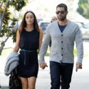 Happy couple Cara Santana and Jesse Metcalfe walk hand in hand while out and about in West Hollywood, California on January 7, 2015