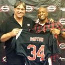 Steve with Walter Payton's son, Jarrett Drafted by The Chicago Slaughter