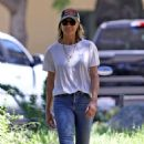 Robin Wright – Gets some fresh air at the dog park in Pacific Palisades