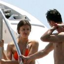 Cristiano Ronaldo and Irina Shayk relaxing on a yacht in St Tropez (July 3)