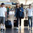 Adam Levine at the Airport