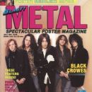 Chris Robinson, Rich Robinson, Johnny Colt - Blast Metal Magazine Cover [United States] (July 1991)