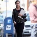 Maria Shriver meets Hollywood heavyweights Ron Howard & Brian Grazer for lunch at Tavern restaurant in Brentwood, California on December 15, 2014