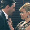 Jon Hamm and Cara Buono