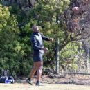Seal spotted out in Los Angeles watching his kids flag football game Saturday October 15, 2016 - 454 x 346