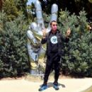 Ringo Starr visits his 'Peace and Love' sculpture to celebrate his 80th birthday on July 07, 2020 in Beverly Hills, California - 454 x 316