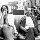 Joel Coen and Ethan Coen on the set of USA Films' The Man Who Wasn't There - 2001