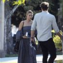 Margot Robbie in Long Dress out in Los Angeles