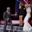 Chris Brown, Demi Lovato and Rita Ora At The 2012 MTV Video Music Awards