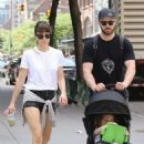 Jessica Biel and Justin Timberlake go for a walk in Tribeca