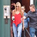 Martha Hunt – Leaving Taylor Siwft's home in New York City