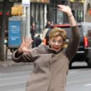 Annette Bening shoots a stunt scene where she pretends to get hit by a bus on the set of 'Life, Itself' in downtown Manhattan, New York on March 25, 2017 - 422 x 600