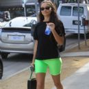 Kelly Gale in Green Tights – Leaving a gym in Hollywood - 454 x 681
