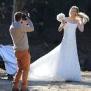 Brandi Glanville gives new meaning to the term 'blushing bride' as a series of  mishaps mar her bridal shoot - 454 x 441