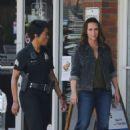 Jennifer Love Hewitt on the set of '9-1-1' in Los Angeles - 454 x 683