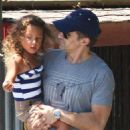 Halle Berry and Olivier Martinez spending an afternoon out in Los Angeles with Nahla (August 10)