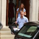 Prince William, Duke of Cambridge and Catherine, Duchess of Cambridge depart The Lindo Wing with their newborn son at St Mary's Hospital on July 23, 2013 in London