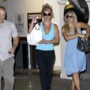 Britney Spears In Blue At An Office Building - August 14 2008