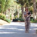 Chloe Goodman – Wears a zebra print jumpsuit out in Dubai - 454 x 319