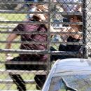 Angelina Jolie and Brad Pitt watching  for Shiloh and Zahara's soccer match (March 14, 2015)