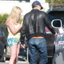 Olivier Martinez gets into a minor car accident after dropping off Nahla with some friends at a Ralph's parking lot in Studio City, California on November 24, 2013