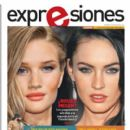 Rosie Huntington-Whiteley, Megan Fox, Transformers: Revenge of the Fallen - Expresiones Magazine Cover [Ecuador] (7 July 2011)