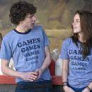 Jesse Eisenberg as James Brennan and Kristen Stewart as Em Lewin in Miramax Films' Adventureland.
