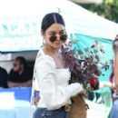 Vanessa Hudgens – Shopping for flowers at the Farmers Market in Studio City