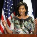 Michelle Obama Visits U.S. Mission To The UN In New York