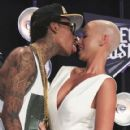 Amber Rose and Wiz Khalifa Attend the 28th Annual MTV Video Music Awards at the Nokia Theatre L.A. Live in Los Angeles, California -  August 28, 2011 - 420 x 594