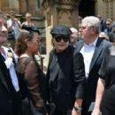 Brian Johnson and Brenda Johnson at the funeral service for AC/DC co-founder Malcolm Young at St Mary's Cathedral on November 28, 2017 in Sydney, Australia