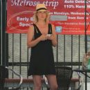 Ali Larter: stopped by the car wash on Melrose in West Hollywood