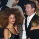 Robin Thicke at Club 79 in Paris With A mystery Woman January 18, 2014