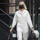 Naomi Watts – In off-white jumpsuit stroll in TriBeCa – New York