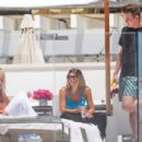 Sofia Richie – In blue bikini on a yacht in Malibu