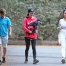 Miranda Cosgrove – Out with her dog Penelope in LA - 454 x 321