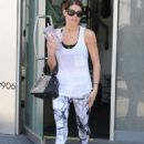Ashley Greene Leaving The Gym In West Hollywood