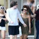 Caroline Flack goes for a stroll with friends in downtown Miami, Florida on January 2, 2016 - 410 x 600