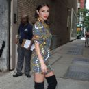 Chantel Jeffries in Thigh High Black Boots out in New York