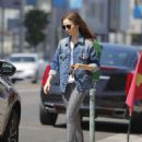 Lily Collins feeding the parking meter in Beverly Hills - 454 x 565