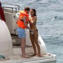 Ann-Kathrin Brommel and Anna Sharypova in Bikini on holiday in Mallorca - 454 x 316