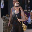 Lindsay Lohan – Wearing bikini at Lohan Beach House in Mykonos