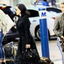 Dita Von Teese – Arrives at the airport in Miami - 454 x 616