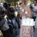 Britney Spears With A Length Floral Dress 2007-09-12