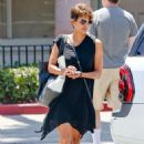 Halle Berry Visiting A Local Nail Spa In Malibu