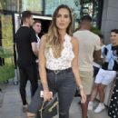 Jessica Shears – Arrives at an Engagement Party in Manchester - 454 x 613
