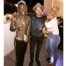 Amber Rose and Wiz Khalifa Backstage at Wiz's Boys of Zummer Concert in Los Angeles, California - August 10, 2015